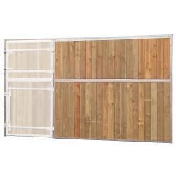 Façade pleine bois sans porte