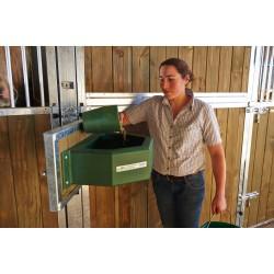 Kit amovible trappe pivotante  pour mangeoire chevaux murale box la gee