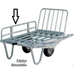 Échelon galva supplémentaire, brouette 2 roues et chariot 4 roues