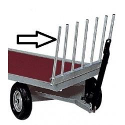 OPTION chariot 4 roues : support galva pour transport de barres d'obstacle