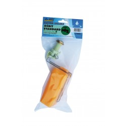 Flotteur LA GEE 15l/mn corps vert avec vis réglage hauteur d'eau/débit