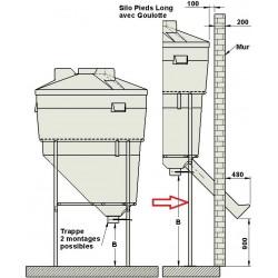 Pieds rehaussés de 900 mm pour silo 5,70 m3 la gée