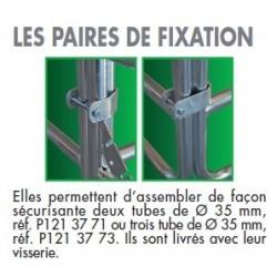 Paire de fixation pour assemblage de deux panels en angle ( avec visserie)