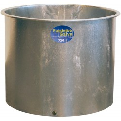 Bac à eau métallique galvanisé 720 L chevaux la gée