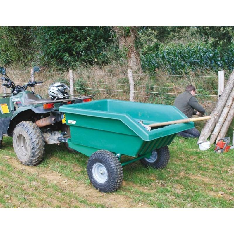 Remorque Micro Tracteur 450L  chevaux la gée